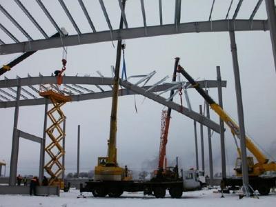 Разрушение каркаса из стальных конструкций