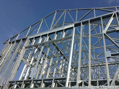 Каркас здания из стальных оцинкованных профилей (ЛСТК)