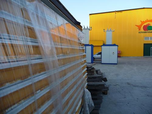 Овощехранилище облицовано сэндвич-панелями