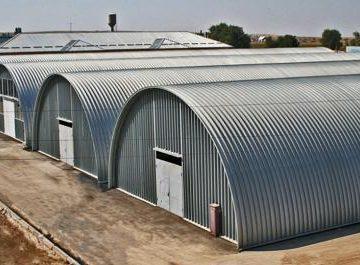 Рынок бескаркасных арочных ангаров и напольных зернохранилищ